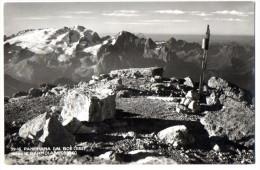 PANORAMA DAL BOE' VERSO LA MARMOLADA 1953 - FORMATO PICCOLO - C801 - Bolzano