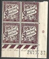 COINS DATES 1937 YVERT N� 37  N� NEUF** TTB