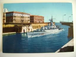 TARANTO   NAVE  BERGAMINI  SHIP   MARINA  MILITARE  WARSHIP  VIAGGIATA COME DA FOTO - Guerra
