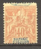 Anjouan Sultanat  N° 10 Oblitéré  Cote Y&T  38,00  €uro Au Quart De Cote - Neufs