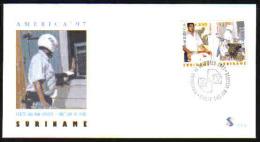 Surinam / Suriname 1997 FDC 212 UPAEP postbode postman postbote facteur