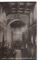 MANCHESTER - ASHTON UNDER LYNE - PARISH CHURCH INTERIOR RP Ma230 - Manchester