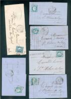 FRANCE 6 LETTRES CLASSIOQUES AFFRANCHIES CERES  N°60 FONTENAY LE COMTE Gc 1542 De1871/72 POUR ST HILAIREDES LOGES TB - 1871-1875 Cérès