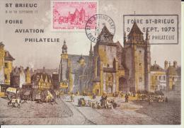 Carte Postale  1973 Foire De  Saint Brieuc Aviation Et Philatélie 1er Jour - Sonstige