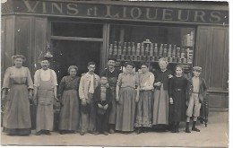 Devanture De MAGASIN Vins Et Liqueurs - CARTE PHOTO - Geschäfte