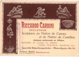 FIRENZE --FLORENCE-- RICCARDO CARDINI  SCULTORE -SCULPTEUR - SCULTURE IN MARMO DI CARRARA E CASTELLINE -- - Sculptures