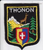 ECUSSON TISSU BRODE THONON 74 HAUTE SAVOIE ARMES BLASON HERALDIQUE - Ecussons Tissu