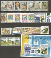 Année Complète 1988.   23 T-p Et 1 B-F Neufs **.. Côte  53 €.  (Séries Du Bicentenaire De La Colonisation De L'Île) - Norfolkinsel