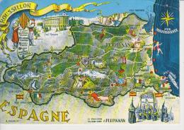 (FR1081) CARTE GEOGRAPHIQUE. ROUSSILLON. MAPA. MAP. MAPE - Mapas