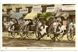 Colombo, Ceylon, Group Of Rickshaws, 1958 - Sri Lanka (Ceylon)