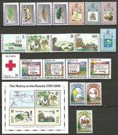 Année Complète 1989.  20 T-p Et 1 B-F Neufs **.. Côte  65 €.  (Inclus Série Mutinerie Du HMS Bounty,etc) - Norfolkinsel