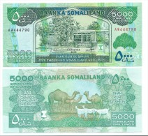 Somaliland 5000 Shillings 2012 UNC - Isla Salomon