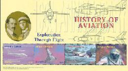 ANTIGUA & BARBUDA  2688 MINT NEVER HINGED MINI SHEETS HISTORY OF AVIATION   ( - Airplanes