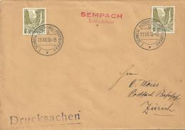 """Sonderstempel  """"Sempach - Schlachtfeier""""            1938 - Lettres & Documents"""