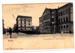 Ratibor Zwingerstrasse mit Knabenschule