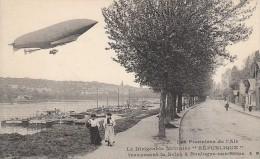 """Les Pionniers De L'Air - Le Dirigeable """"République"""" Traversant La Seine à Boulogne-sur-Seine - FRANCO DE PORT - Boulogne Billancourt"""