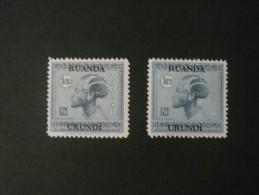 """Ruanda-Urundi 1925 * MLH cob 74/75  """" Vloors """" 2 valeurs cat: 2,75 Euro ( scan )"""