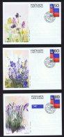 1987  Cartes Postales Fleurs Alpines  50, 80 Et 110 Rp. Michel P 85-7  Oblitérées Premier Jour - Entiers Postaux