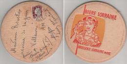 France - CURIOSITE Type Mail Art : Sous-bock De Biere Voyagé En 1962 Affranchi Marianne De Décaris 1263 Lorraine Metz - 1961-....