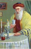 AK JUDAIKA JUDAICA JÜDISCHE Familie Mahlzeit Des Gebetes    IMPORT ALTE POSTKARTE - Judaisme
