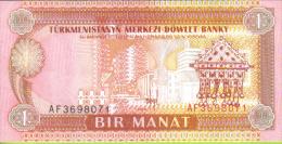 Turkmenistan, Billete De 1 Manat, De 1993, S/C - Turkmenistán