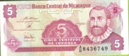 Nicaragua, Billete De 5 Centavos De Cordoba, Sin Circular - Nicaragua