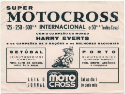 Sticker Autocollant - Super Motocross Internacional - Setúbal - Porto - 1983 - Harry Everts (17x12,5cm) - Stickers