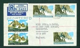 KENYA UGANDA AND TANGANYIKA  -  1968  Registered Cover To The UK As Scans - Kenya, Uganda & Tanganyika