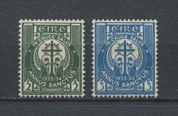IRLANDE 1933 N° 62/63 * = MH Légère Trace TTB Cote 6,50 € Année Sainte Symboles - 1922-37 Stato Libero D'Irlanda
