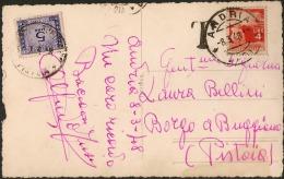 Fotocartolina Viaggiata Con Democratica £. 4 E Segnatasse £. 5 Con Annullo Andria (Bari) 08.03.1948 - 6. 1946-.. Repubblica