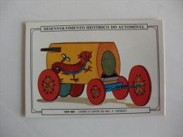 Historical Development Of The Automobile Verbiest Portuguese Pocket Calendar 1986 - Calendriers