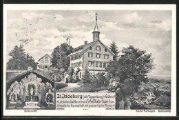 CPA St. Iddaburg, Lourdes-Grotte, Letzter Rest Der Alten Toggenburg - SG St. Gall