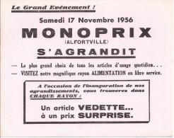 buvard monoprix alfortville s'agrandit, samedi 17 novembre 1956