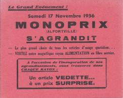 buvard monoprix alfortville s�agrandit, samedi 17 novembre 1956