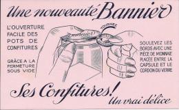 Buvard Confitures BANNIER, Ouverture Facile Des Pots, Doigts, Pièce De Monnaie - C