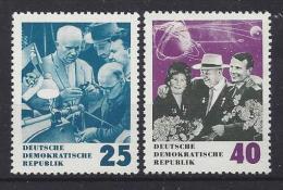 Germany (DDR) 1964  Nikita Chruschtschow  (**)  MNH  Mi. 1020 -1021 - Ongebruikt