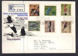 Rhodesia: First Day Cover 1971 Birds Of Rhodesia - Rhodesia (1964-1980)