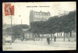 Cpa Du 92 Bourg La Reine Place Condorcet      JUI11 - Bourg La Reine