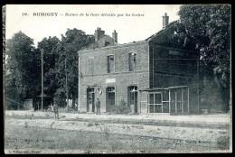 Cpa Du 08 Rumigny  Ruines De La Gare Détruite Par Les Boches ...  Charleville      JUI11 - Charleville