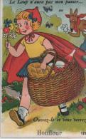 HONFLEUR ( Le Loup N.'.aura Pas .mon Panier ) - Cartoline Con Meccanismi