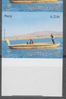 O) 2009 PERU, TITICACA-LAKE, PERUVIAN CRAFT-BOAT, IMPERFORATE MNH - Peru