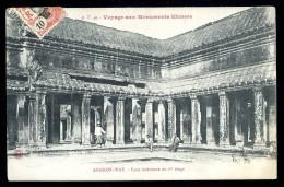Cpa Du Cambodge  Voyage Aux Monuments Khmers , Angkor Vat Cour Intérieure Du 1er étage  JUI12 - Cambodia