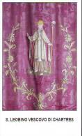 S. Leobino Vescovo Di Charters,  Santino  Con Vita Del Santo E Preghiera - Religione & Esoterismo