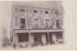 CPA PHOTO ESPAGNE BARCELONA Cerveceria MORITZ Bi�re Beer 1902 Rare