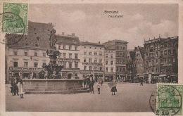 5315. Gelaufene Ansichtskarte vom Neumarkt im Breslau. Q1/2!