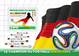 nigFootballs Niger 2014 Football Soccer Football World Cup Brazil Champions Germany s/s Flag