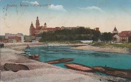 5325. Gelaufene Ansichtskarte vom Wawel im Krakow. Q2!