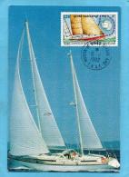 MARCOPHILIE -carte   MAXIMUM-T A A F -1992- Course à La Voile Autourdu Monde-voilier-timbre N°165 - FDC