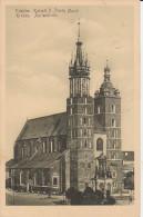 5328. Gelaufene Ansichtskarte vom Marienkirche im Krakow. Q1!