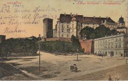 5333. Gelaufene Ansichtskarte vom Wawel im Krakow. Q1/2!
